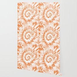 Light Orange Tie Dye Wallpaper