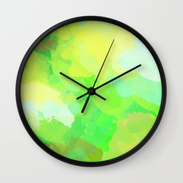Colorful Abstract - green pattern, forest, nature Wall Clock