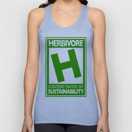 Rated H for Herbivore Unisex Tank Top