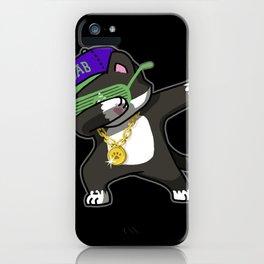Dabbing Cat Frajola iPhone Case