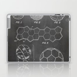 Soccer Ball Patent - Football Art - Black Chalkboard Laptop & iPad Skin