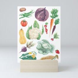 Watercolor vegetables Mini Art Print