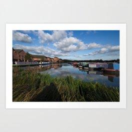 Barton Marina Narrow Boats Art Print