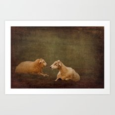 The smiling Sheeps Art Print