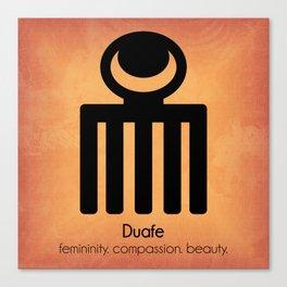 Duafe - Adinkra Art Poster Canvas Print