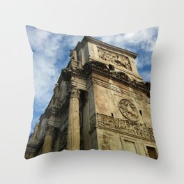 Arch Of Constantine, View 2 Throw Pillow
