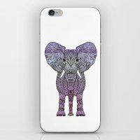 ornate elephant iPhone & iPod Skins featuring ELEPHANt by Monika Strigel