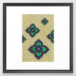 Green Petals Framed Art Print