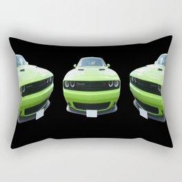 Green Dodge Challenger Rectangular Pillow