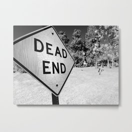 Dead End Cemetery Metal Print