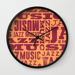 Jazz Poster Wall Clock
