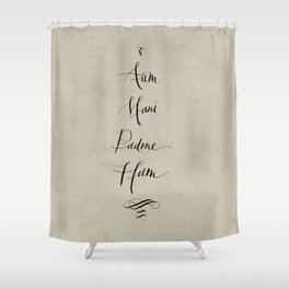 Aum Mani Padme Hum Shower Curtain