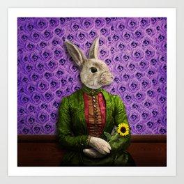 Miss Bunny Lapin in Repose Art Print
