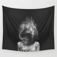 wind Wall Tapestries featuring Wind by Illustratic