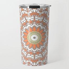 Sun Kissed Apricot Mandala Design Travel Mug