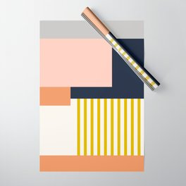 Sol Abstract Geometric Print in Multi Wrapping Paper