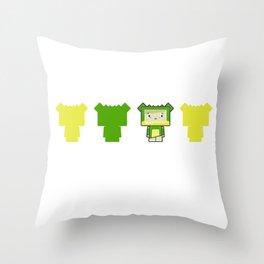Cute Cartoon Blockimals Crocodile Throw Pillow