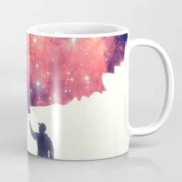 Painting the universe (Colorful Negative Space Art) Coffee Mug
