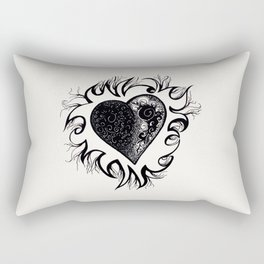 """If I Had A Heart, This Is What It Would Look Like"" Rectangular Pillow"