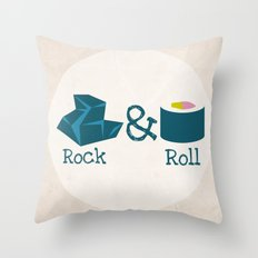 Rock&Roll Throw Pillow