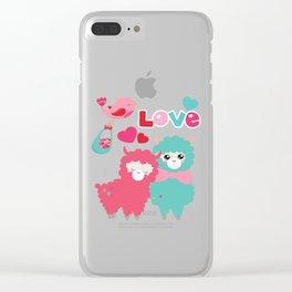Llama and Llama in Love Clear iPhone Case