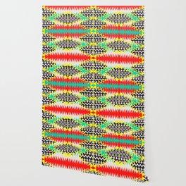 Tribal Beat Geo Neon Wallpaper