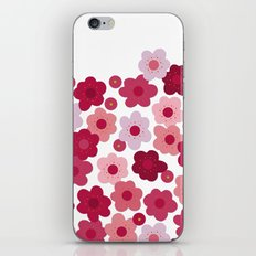 cherry blossom pop white iPhone & iPod Skin
