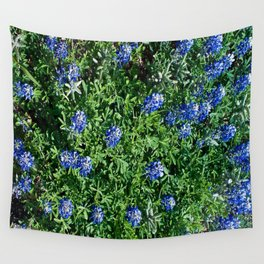 Stepping Out In Blue Wall Tapestry