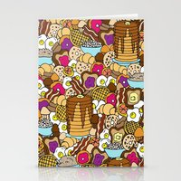 breakfast Stationery Cards featuring Breakfast by Julia Emiliani