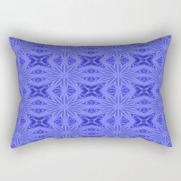 Blue Flower Cross Floral Pattern Rectangular Pillow