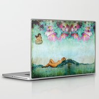 swimming Laptop & iPad Skins featuring swimming by Rosa Picnic