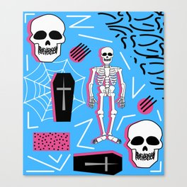 Halloween- Memphis style Canvas Print