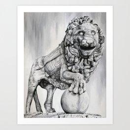 Medici Lion Painting Art Print