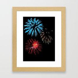 Patriotic Fireworks Framed Art Print