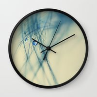 feather Wall Clocks featuring feather by Ingrid Beddoes