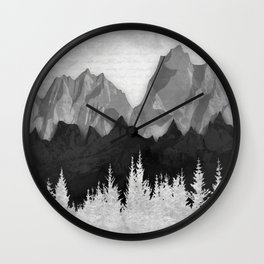 Layered Landscapes Wall Clock