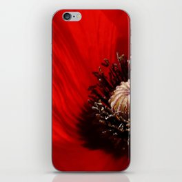 Sunlit Poppy iPhone Skin