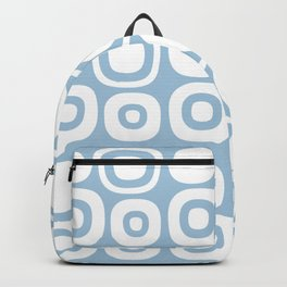 Mid Century Modern Garden Path Pattern 377 Pale Blue Backpack