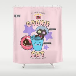 Cookie Cat Shower Curtain