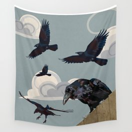 Invasion of the Crows Wall Tapestry