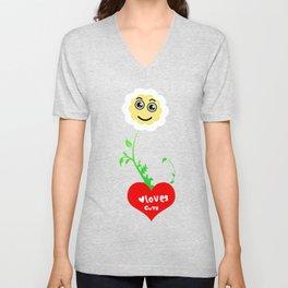 Smiling Daisies Unisex V-Neck