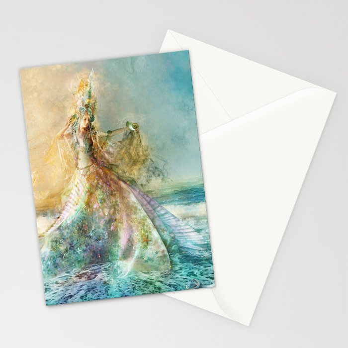 Shell Maiden Stationery Cards