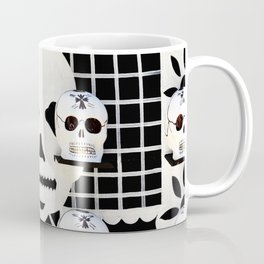 Color Photography, Paper Art Skulls, Day Of The Dead, Oaxaca Mexico Coffee Mug