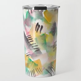 180803 August Abstract 10| Colorful Abstract | Watercolors Brush Patterns Travel Mug