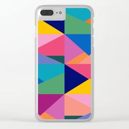 Geometric Color Block Clear iPhone Case