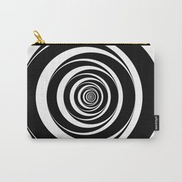 Black  White Circles Sixties Optical Illusion Carry-All Pouch