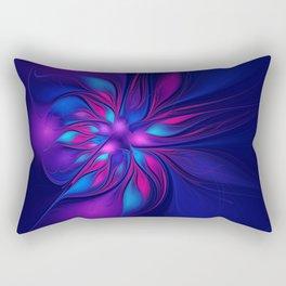 Pink Blue Fantastic Flower | Aqua, purple flowers Rectangular Pillow