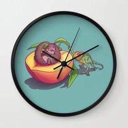 Peach-a-boo! Wall Clock