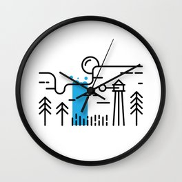 Waterfall - In The Woods Wall Clock