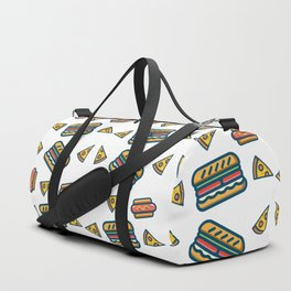 fast food white Duffle Bag